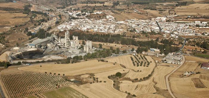 Fábrica de cementos de Niebla (Huelva). Autora: Marta Santofimia. Fuente: Proyecto Patrimonio Industrial de Andalucía.